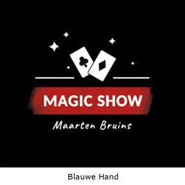 Goochelaar Blauwe Hand