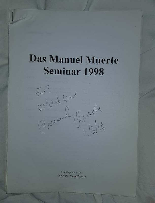 Das manuel muerte seminar 1998