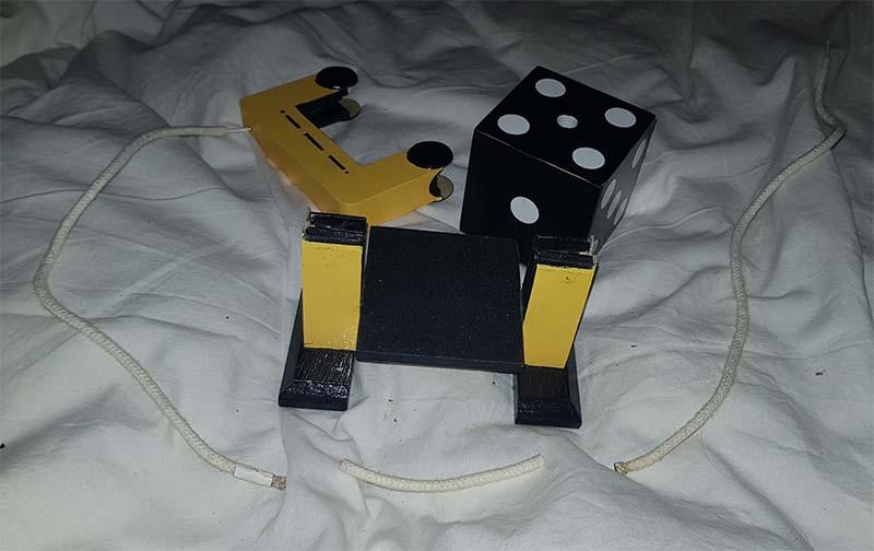 Dobbelsteen koord magneten