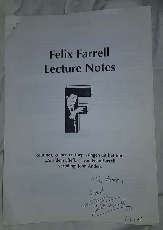 Felix Farrell - Lecture notes