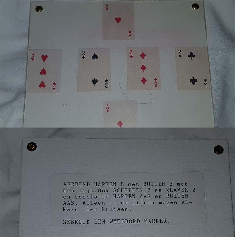 Kaarten plexiglas